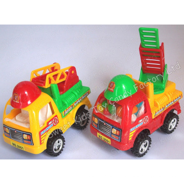 Cartoon Fire Truck Toy Candy (110309)